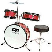 PP Red Junior 3 Piece Drum Kit