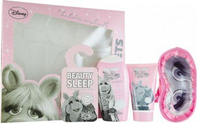 The Muppets Superstar Gift Set 250ml Miss Piggy Shower Gel + 150ml Miss Piggy Shimmer Body Lotion + Sleep Mask + Door Sign