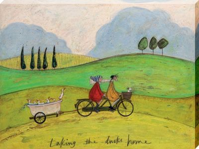 Sam Toft Taking the Ducks Home Canvas Print 30x40cm