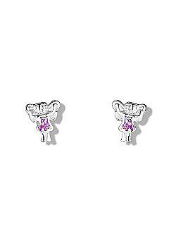 Jo for Girls Purple Sparkly Fairy Stud Earrings