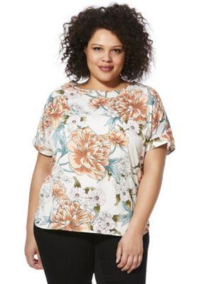 Simpy Be Capsule Floral Print Plus Size Top Multi 18