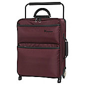 it luggage Worlds Lightest Cabin 2 Wheel Chocolate Truffle/Black Suitcase