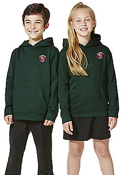 Unisex Embroidered School Hoodie with As New Technology - Bottle green
