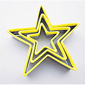 Ribbon Tied Star Cutters, Yellow, Set of 3