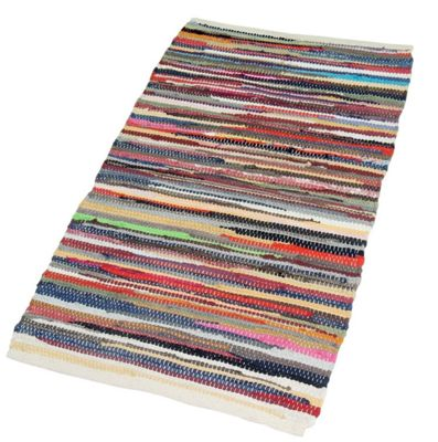 EHC 100 % Recycled Handmade Chindi Floor Rug