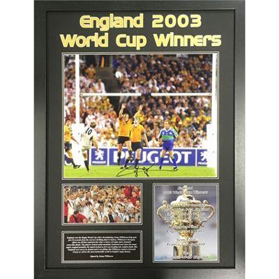 Framed Jonny Wilkinson signed england Rugby image