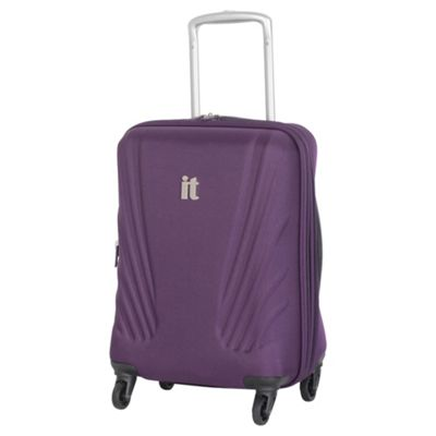 Buy IT Luggage Frameless 4-Wheel Suitcase, Purple Small from our ...