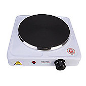 Lloytron E4102WH Kitchen Perfected Single Hotplate, 1500 W, White