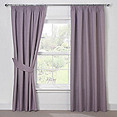 Julian Charles Luna Mauve Blackout Pencil Pleat Curtains - 44x54 Inches (112x137cm)