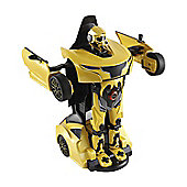Homcom Remote Control Car Transformer Robot Deformation w/ Light & Sound (Yellow)