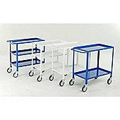 2 Tier tray trolley - White epoxy