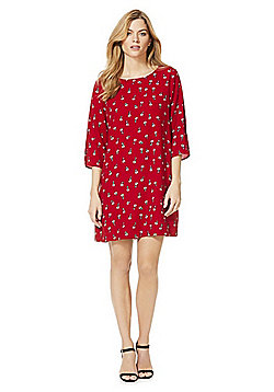 Only Floral Print Shift Dress - Red