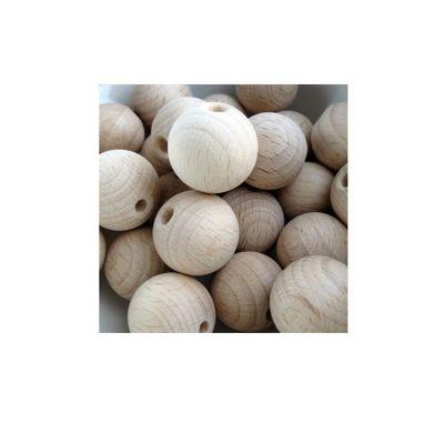 Craft Factory Wooden Beads 15mm Pk12 Beech