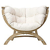 Amazonas Siena Uno Wooden Garden Chair in Natura