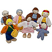 Sweetbee Dolls House Family, 7 wooden dolls for children's dollhouses