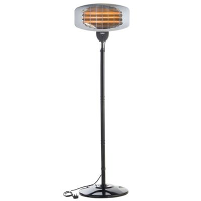 Delightful VonHaus 2000W Free Standing Electric Garden Patio Heater With 3 Heat  Settings