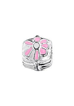 Jo For Girls Pink Daisy Slide On Bead