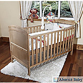 Penelope - Cot Bed, 10Cm Pocket Sprung Mattress & Teething Rails - Country Pine