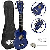 Blue Soprano Ukulele - Beginners Ukulele with Bag