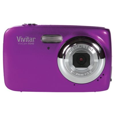 Vivitar XO40 Digital Camera, Purple, 10MP, 4x Optical Zoom, 2.2