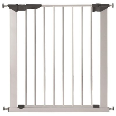 Safetots No Screw Stair Gate Silver