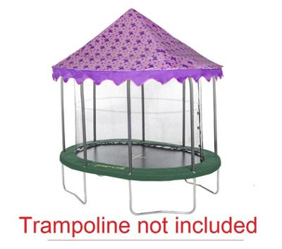 7ft x 10ft Jumpking Oval Butterfly Canopy Trampoline Tent