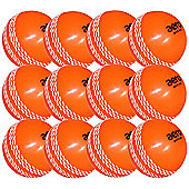 12 x Orange Aero Quick Tech Coaching Cricket Balls Youth Size