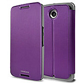 CaseBase Ultra-Slim Premium Folio Case Cover for Nexus 6 - Purple