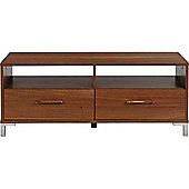Chorley - 2 Drawer Entertainment Storage Unit / Tv Cabinet Table - Walnut