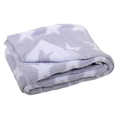 East Coast Silvercloud Chenille Knitted White Blanket