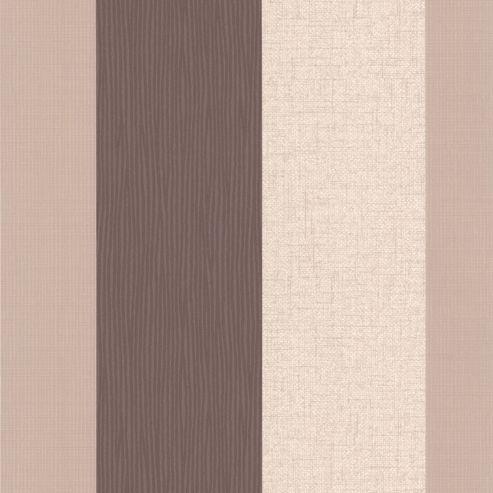 Superfresco Java Textured Stripe Brown/Cream Wallpaper