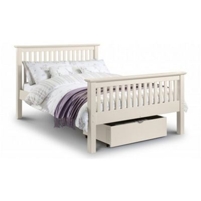 Premier Traditional Stone White Bed Double High Foot End - 4ft 6