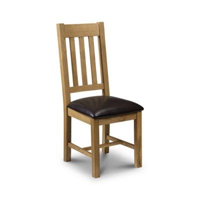 Solid Oak Leather Dining Chair