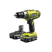 Ryobi LLCDI18022 One+ Combi Hammer Drill 18 Volt 2 x 1.3Ah Li-Ion