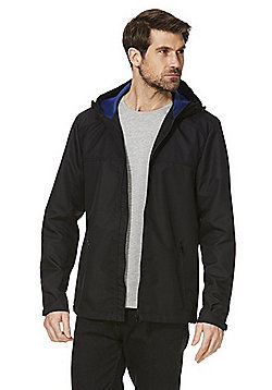 F&F Shower Resistant Hooded Ripstop Jacket - Black