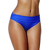 F&F Shaping Swimwear Fold-Over Bikini Briefs - Cobalt