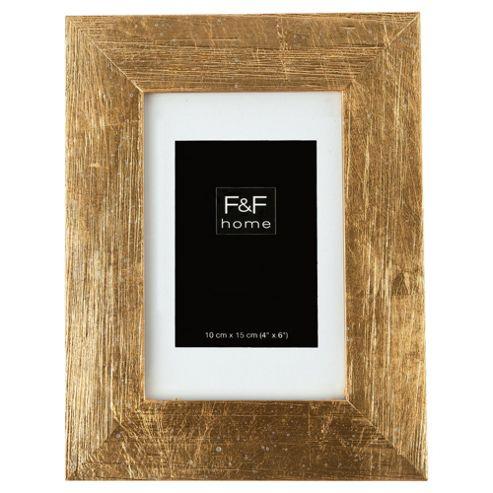 F&F home gold scratch effect frame 4x6