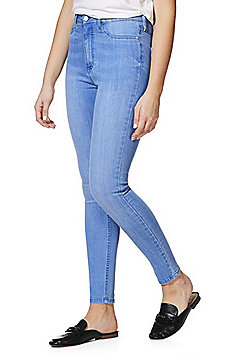 F&F High Rise Tube Pant Super Skinny Jeans - Light wash