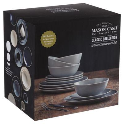 Mason Cash Classic Collection Grey 12pc Dinner Set