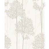 Superfresco Easy Eternal Paste The Wall Branch Trail Cream/Gold Wallpaper