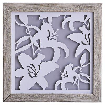 Laser Cut Floral Boxed Frame