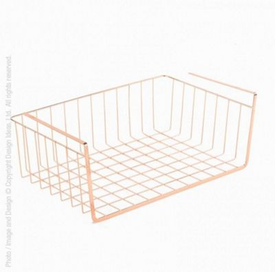 Design Ideas Lincoln Large Undershelf Basket Rack in Copper 3536016
