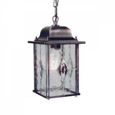 Black Silver Chain Lantern - 1 x 100W E27