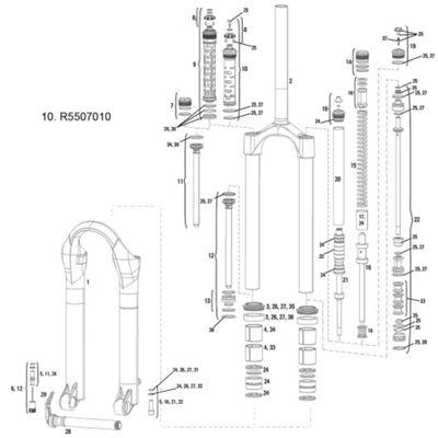RockShox Compression Damper Argyle RCT 2011 MoCo Crown Adj Int Gate(Alum Uppers Only)