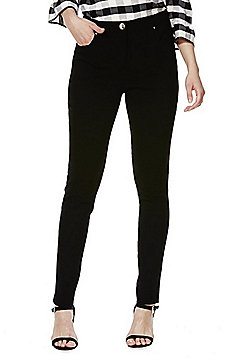F&F 5 Pocket Skinny Leg Trousers - Black
