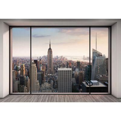 Penthouse Scenic New York Skyline Wallpaper Mural 368 x 254cm