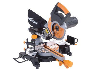 Evolution RAGE3-S+ 210mm Multi-Purpose Sliding Saw Pro Pack 1,500 Watt 240 Volt