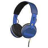 Skullcandy Grind On Ear Headphones with TapTech Ill Royal Blue