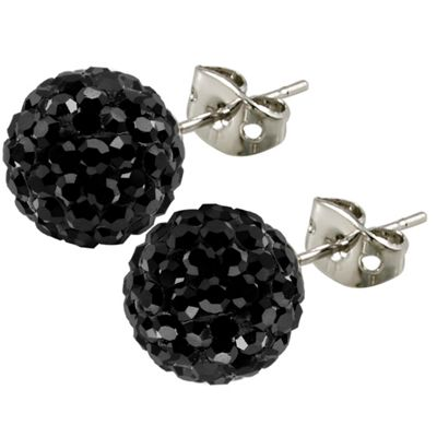 Breel Tresor Paris Stud Earrings Black 10mm Crystal Allergy Safe Anium Uni Catalogue Number 405 7177