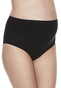 Mamalicious 2 Pack of Over the Bump Maternity Briefs - Black